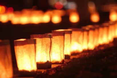 Candlelit path