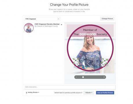 Facebook Profile Frame Set Up